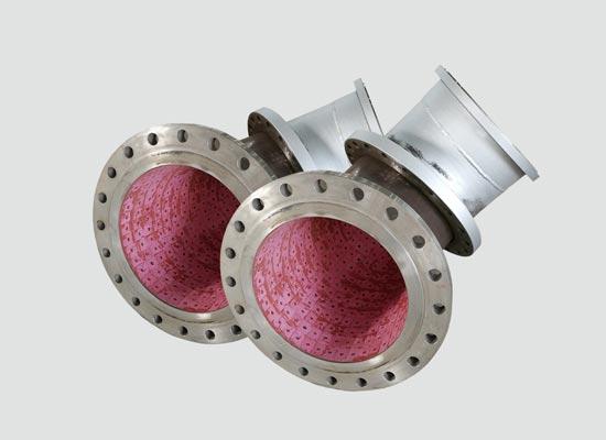 <strong>螺柱焊接型耐磨陶瓷管道</strong>