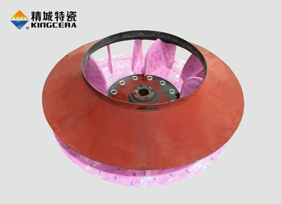 耐磨陶瓷风机叶轮|陶瓷风机叶片|陶瓷风机