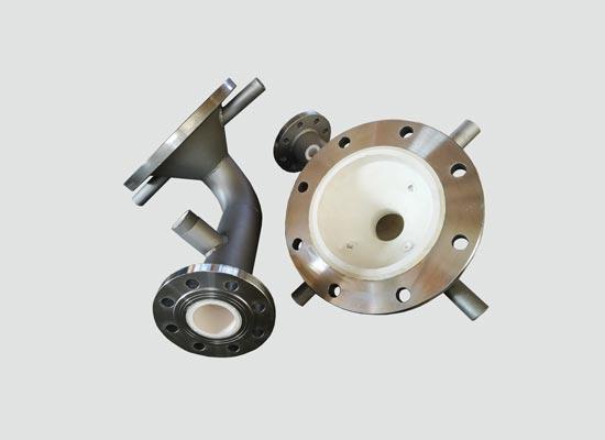 锂电池行业耐磨陶瓷进料管-增压管