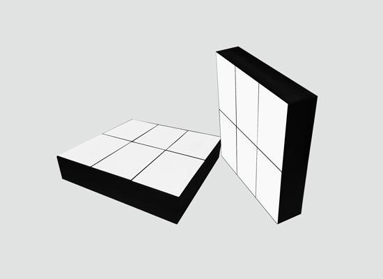 超耐磨抗冲击型陶瓷衬板(NMC-ZTA)