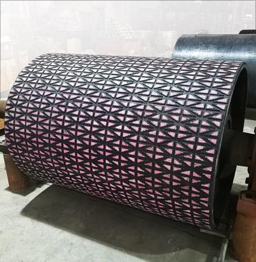 耐磨陶瓷滚筒包胶