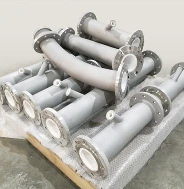 锂电池行业一体成型耐磨陶瓷管道