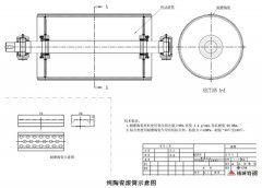 湖南精城皮带机耐磨陶瓷滚筒防磨解决方案
