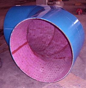 内衬耐磨陶瓷高温管道|热风管道