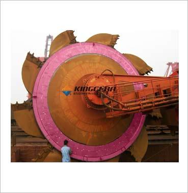 斗轮机圆盘耐磨陶瓷衬板